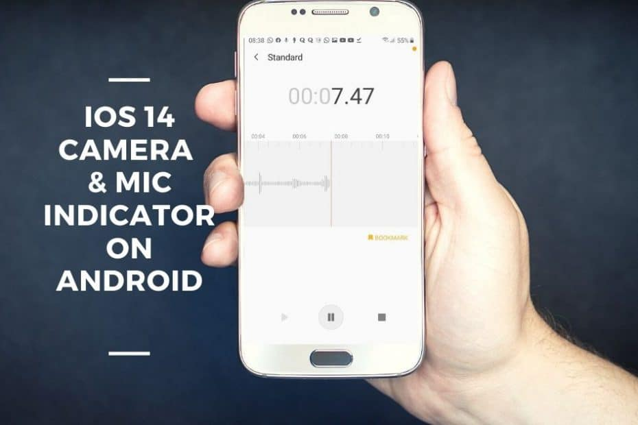 ios 14 camera & mic indicator on android